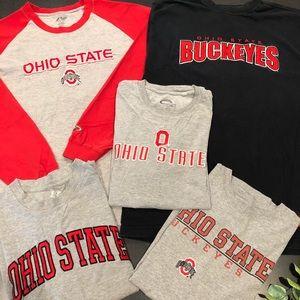 OSU Ohio State Buckeyes T Shirt Bundle 5 PC